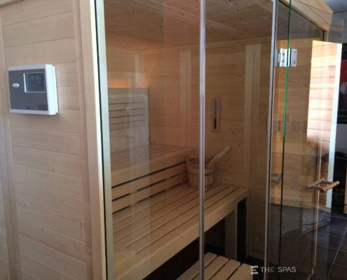 sauna klafs façade verre